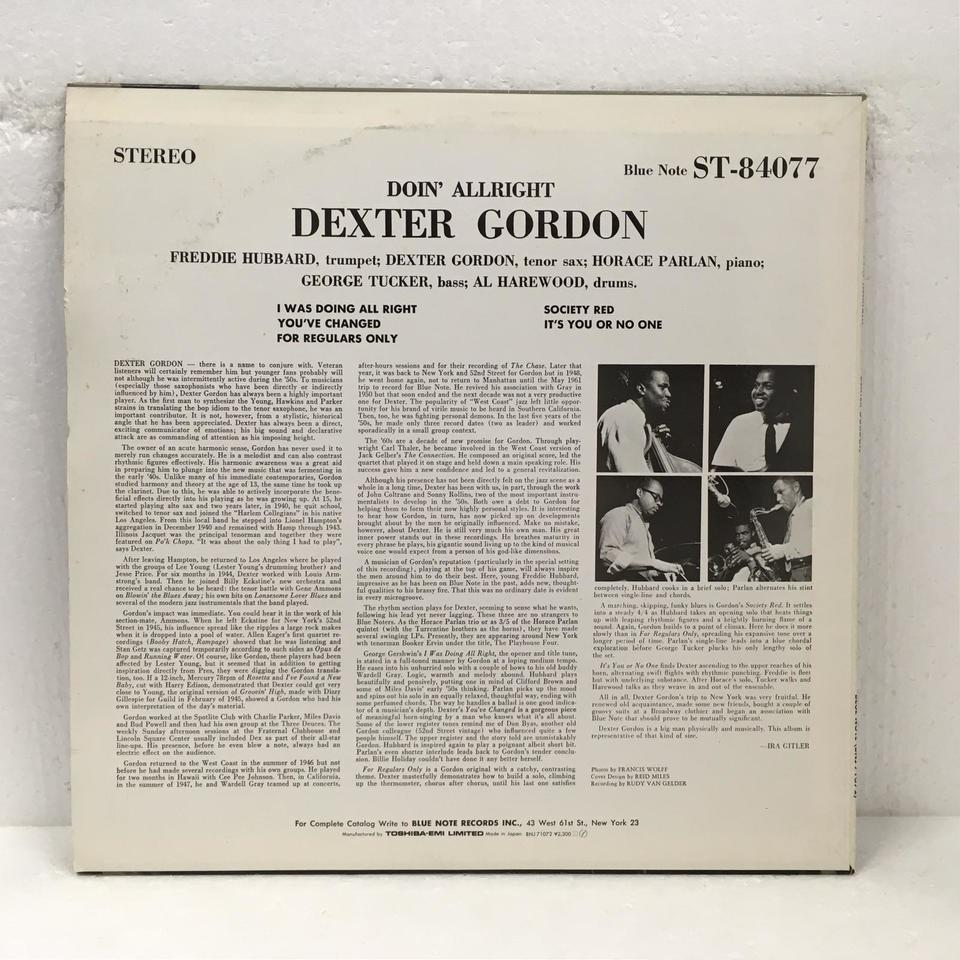 DOIN' ALLRIGHT/DEXTER GORDON DEXTER GORDON 画像