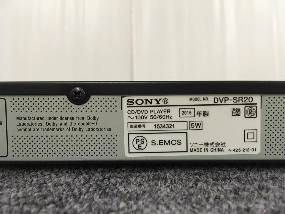 DVP-SR20 SONY 画像