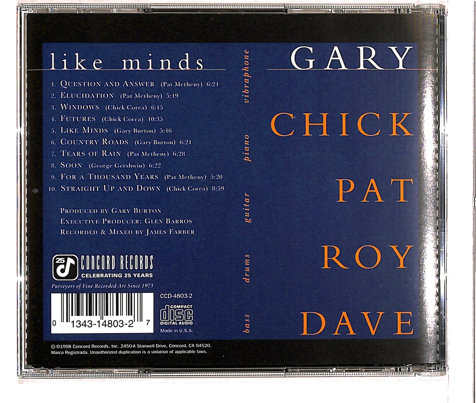 LIKE MINDS/GARY BURTON GARY BURTON 画像