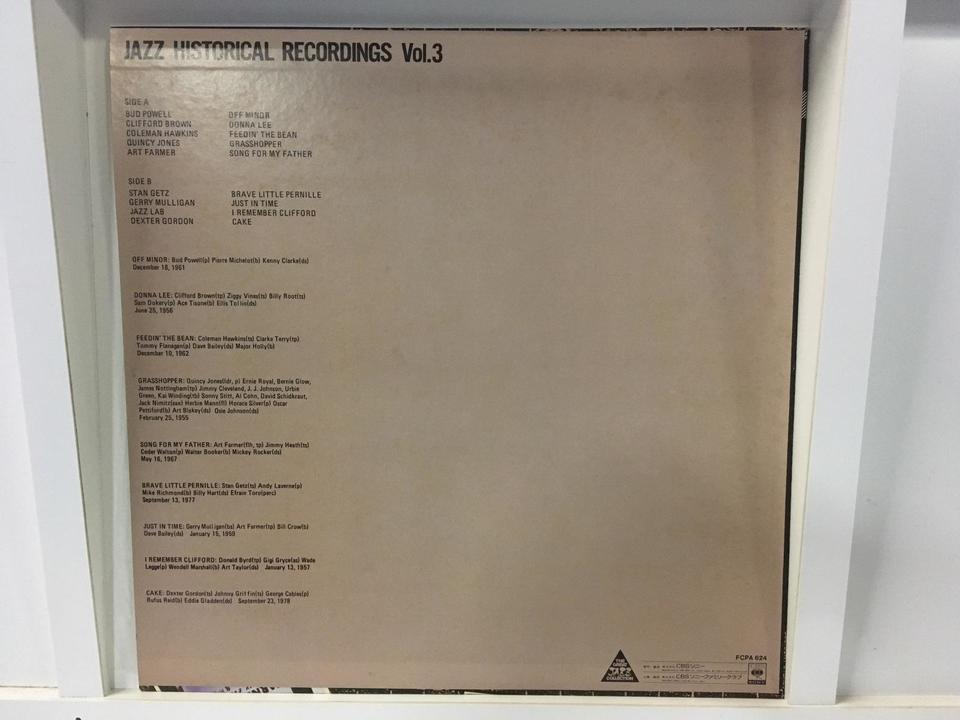 Jazz historical recordings 3枚セット  画像