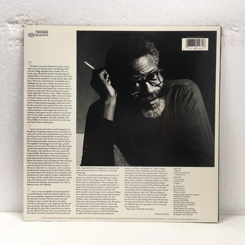 THE STATE OF THE TENOR LIVE AT THE VILLAGE VANGUARD VOL.1/JOE HENDERSON JOE HENDERSON 画像