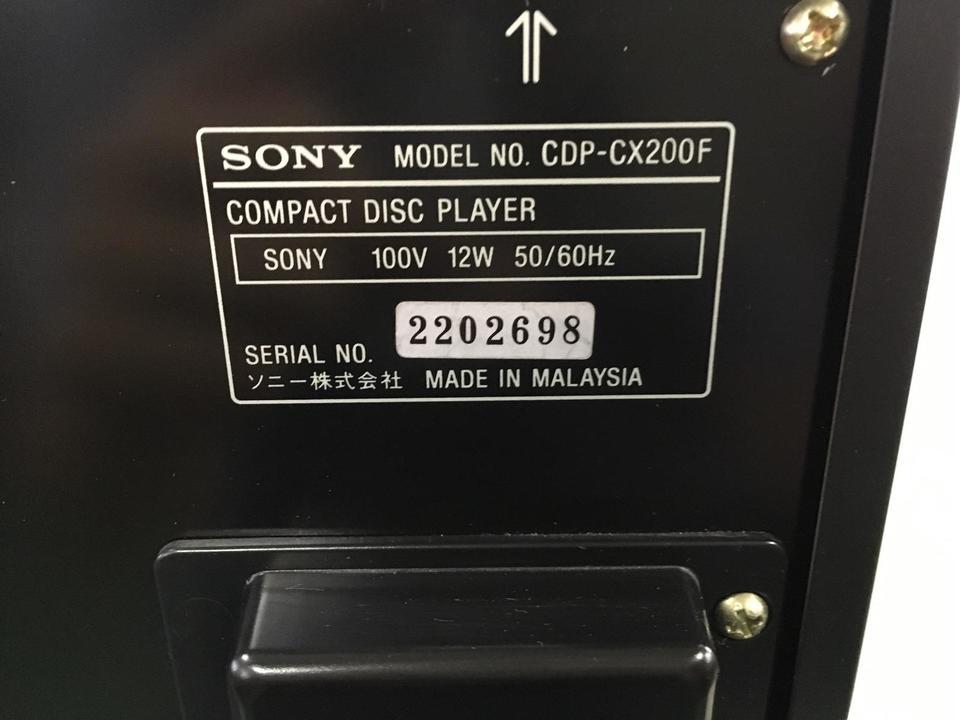 CDP-CX200F SONY 画像