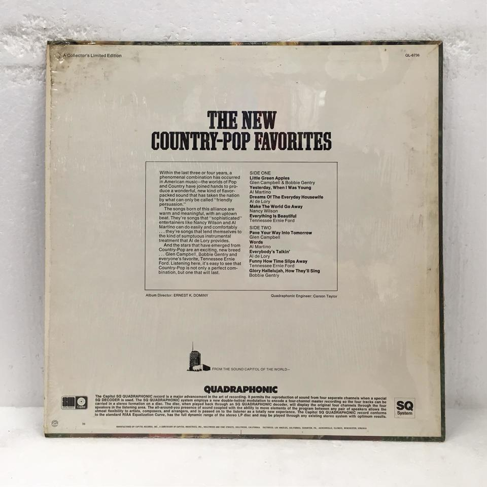 THE NEW COUNTRY-POP FAVORITES V.A. 画像