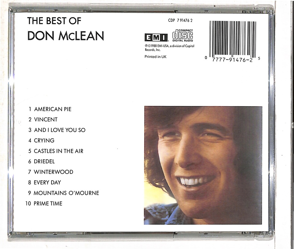 THE BEST OF DON McLEAN DON McLEAN 画像