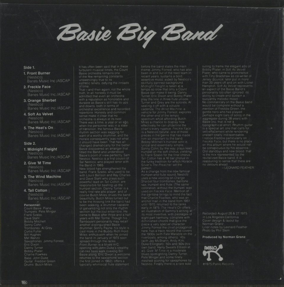 BASIE BIG BAND/COUNT BASIE COUNT BASIE 画像