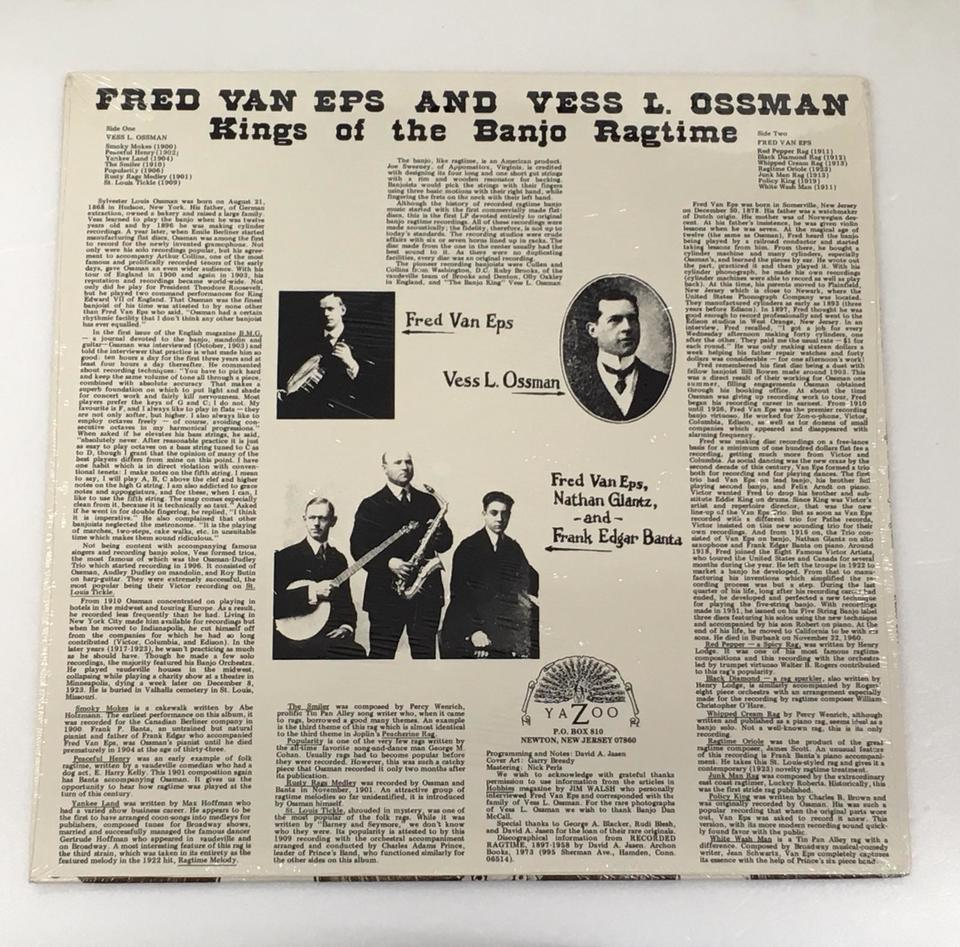 【未開封】KINGS OF THE RAGTIME BANJO/FRED VAN EPS & VESS L.OSSMAN FRED VAN EPS & VESS L.OSSMAN 画像