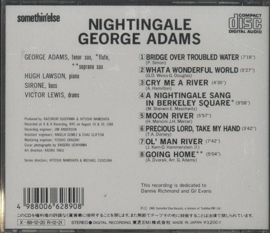NIGHTINGALE/GEORGE ADAMS GEORGE ADAMS 画像