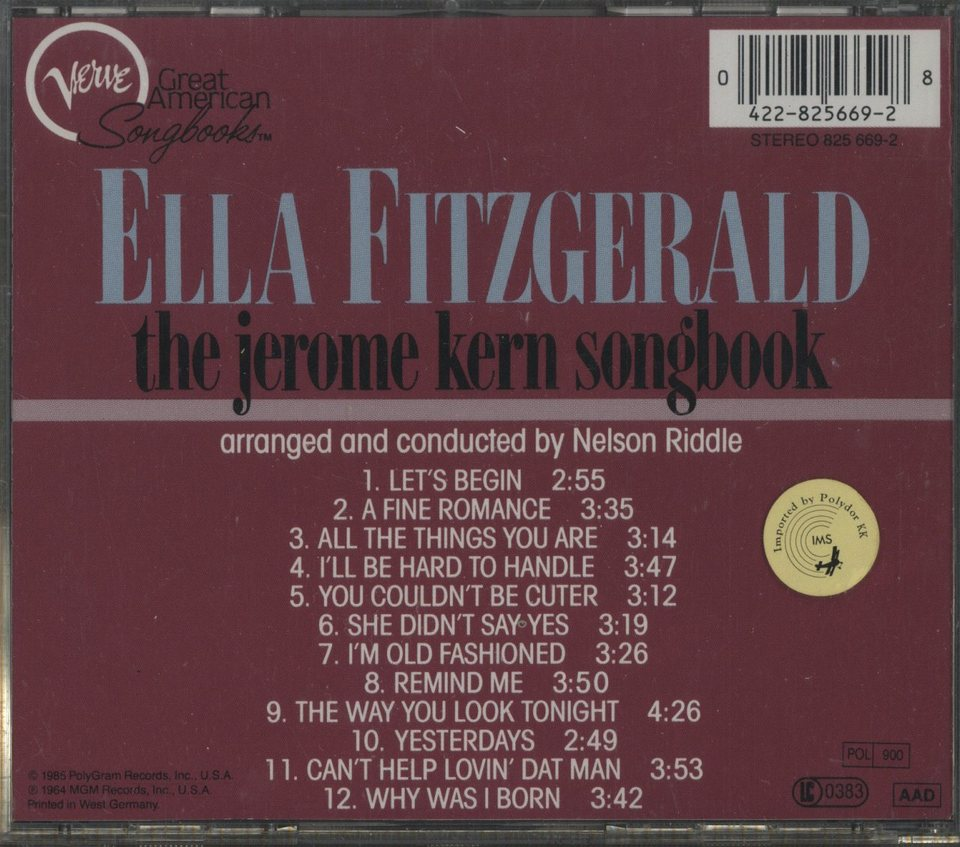 THE JEROME KERN SONGBOOK/ELLA FITZGERALD ELLA FITZGERALD 画像