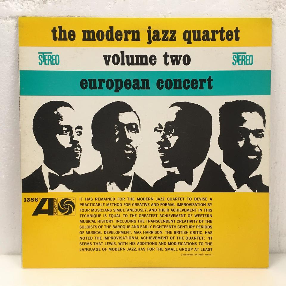 EUROPEAN CONCERT VOL.2/MJQ MODERN JAZZ QUARTET 画像