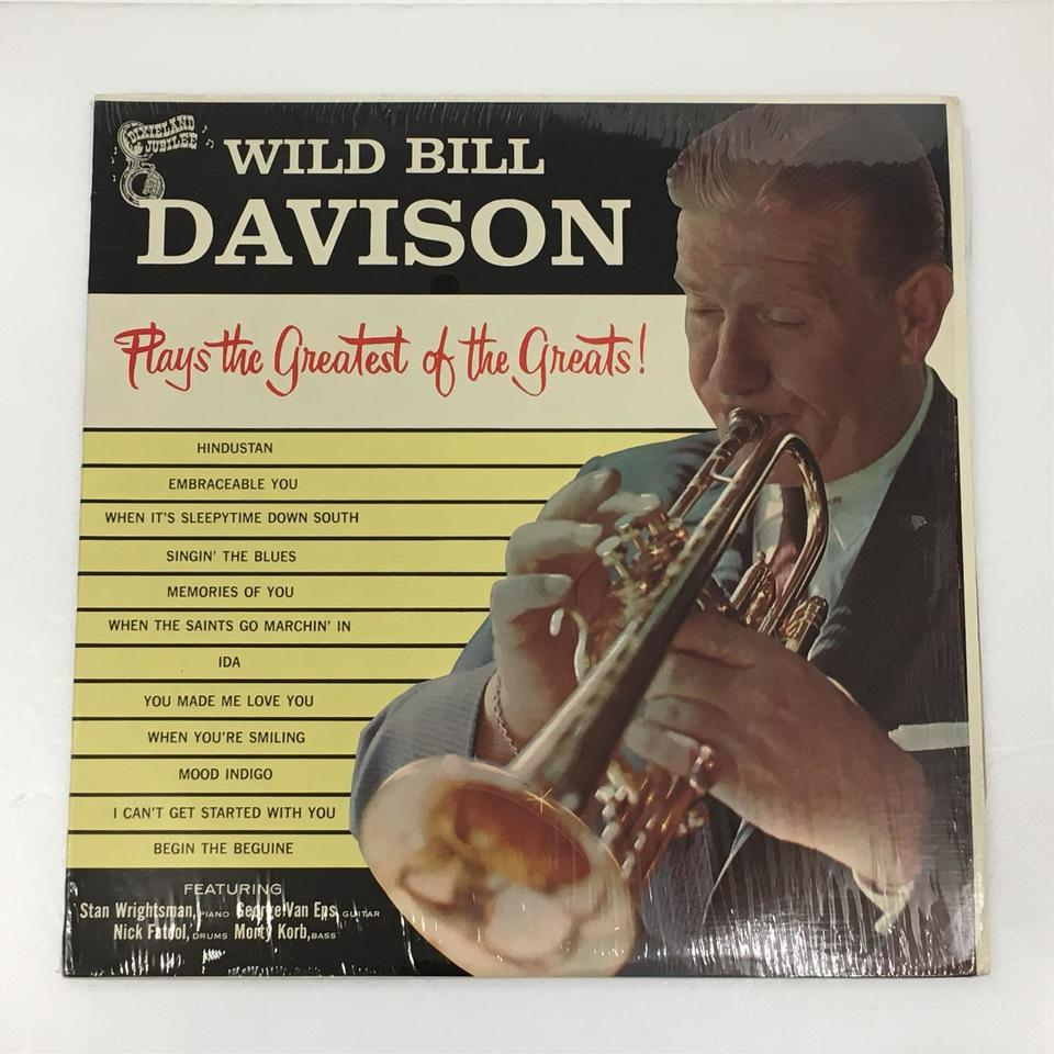 PLAYS THE GREATEST OF THE GREATS!/WILD BILL DAVISON WILD BILL DAVISON 画像