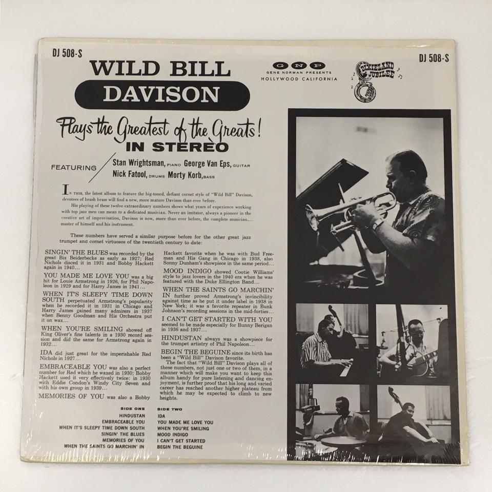 PLAYS THE GREATEST OF THE GREATS!/WILD BILL DAVISON WILD BILL DAVISON 画像