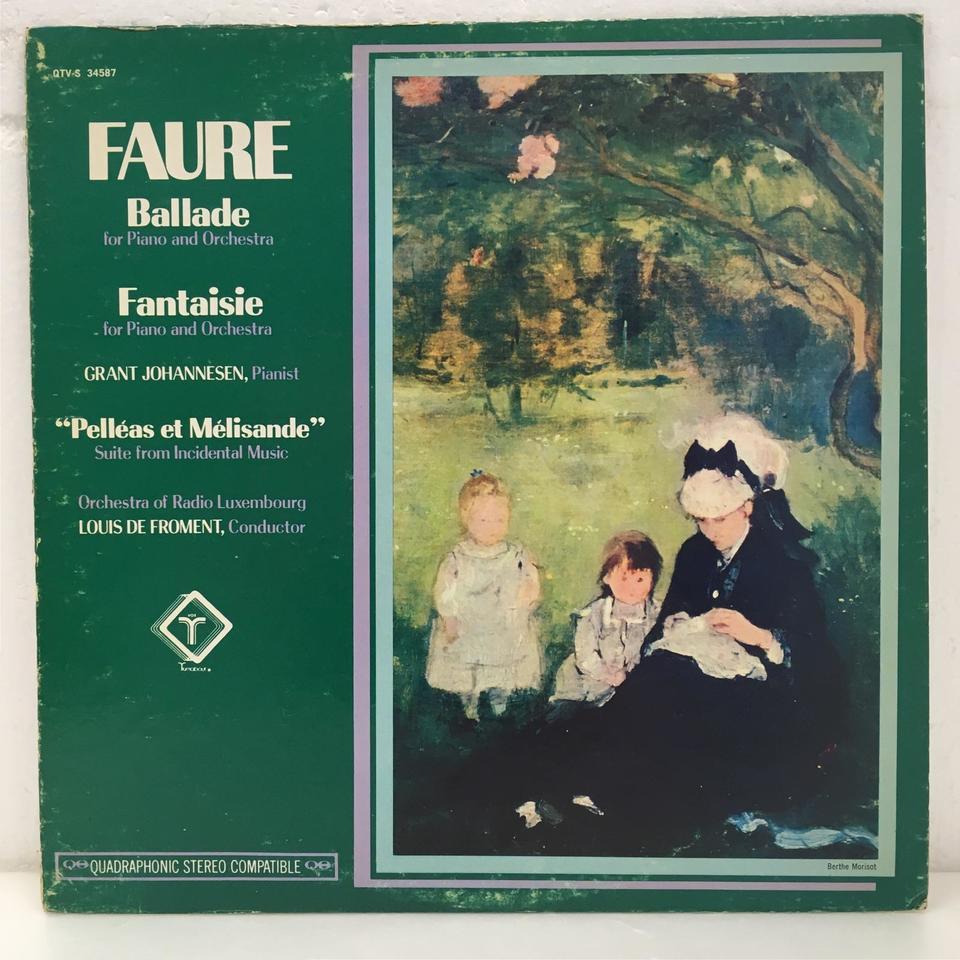 フォーレ:ペレアスとメリザンド、バラード 嬰ヘ長調、ピアノとオーケストラのための幻想曲 フォーレ 画像