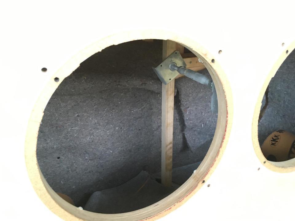 38cmダブルウーファーエンクロージャー 自作 画像