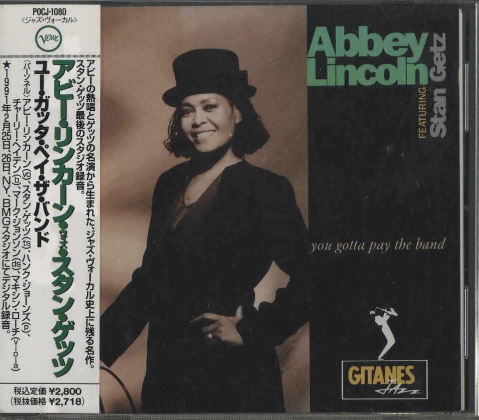 YOU GOTTA PAY THE BAND/ABBEY LINCOLN FEATURING STAN GETZ ABBEY LINCOLN 画像