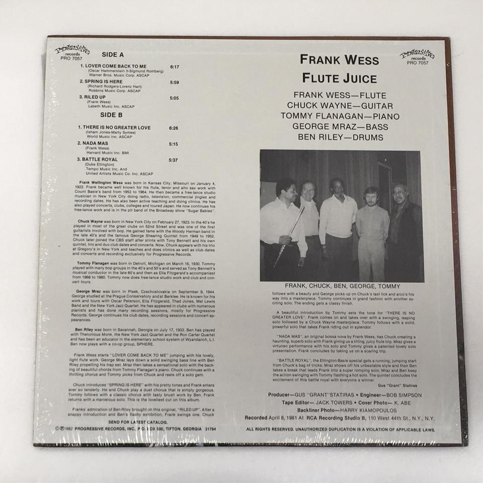 FLUTE JUICE/FRANK WESS FRANK WESS 画像