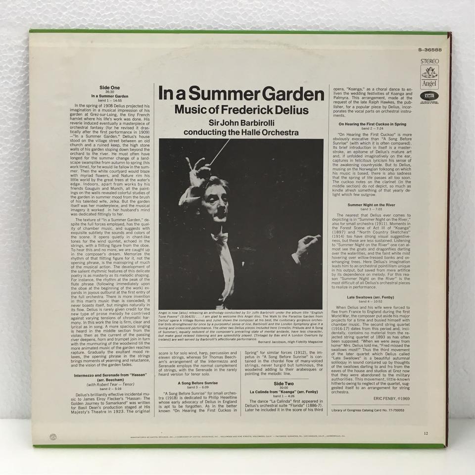 ディーリアス:幻想曲「夏の庭で」 ディーリアス 画像
