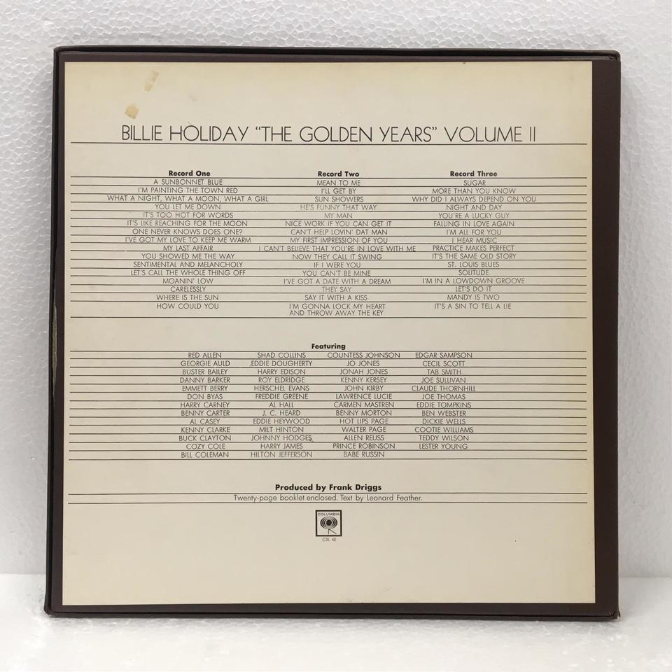 THE GOLDEN YEARS VOL.2/BILLIE HOLIDAY BILLIE HOLIDAY 画像