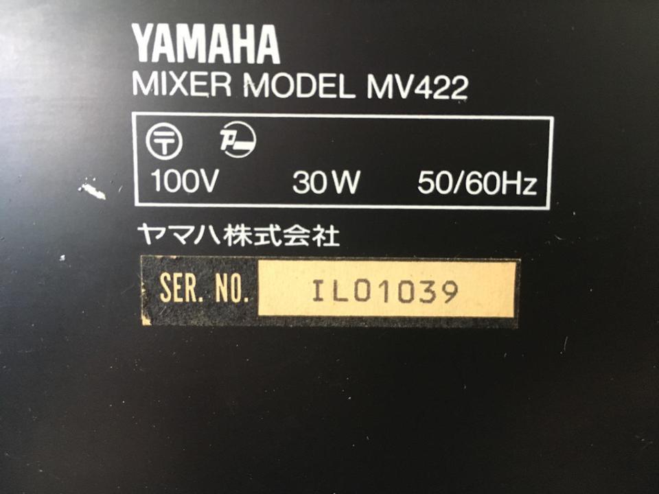 MV422 YAMAHA 画像