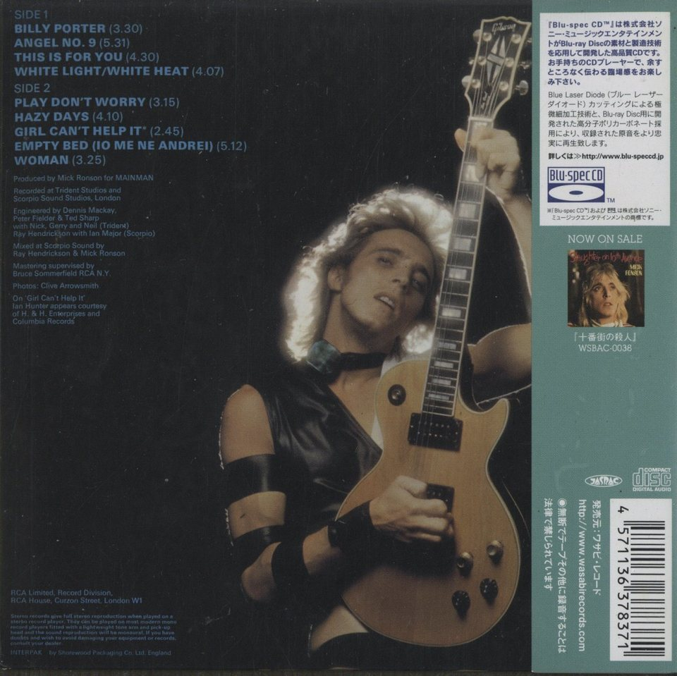 PLAY DON'T WORRY/MICK RONSON MICK RONSON 画像