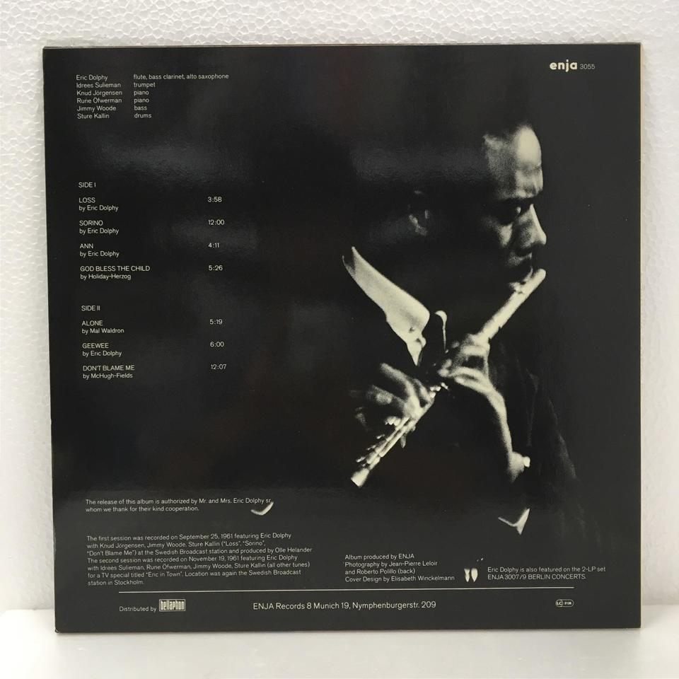 STOCKHOLM SESSIONS/ERIC DOLPHY ERIC DOLPHY 画像