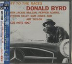 OFF TO THE RACES/DONALD BYRD