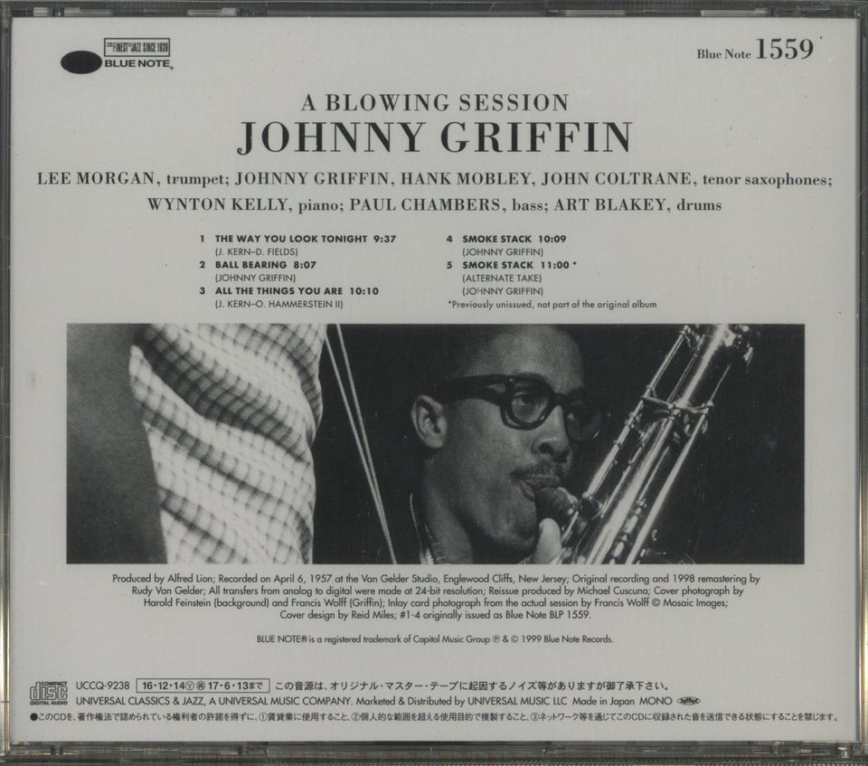 A BLOWING SESSION/JOHNNY GRIFFIN JOHNNY GRIFFIN 画像