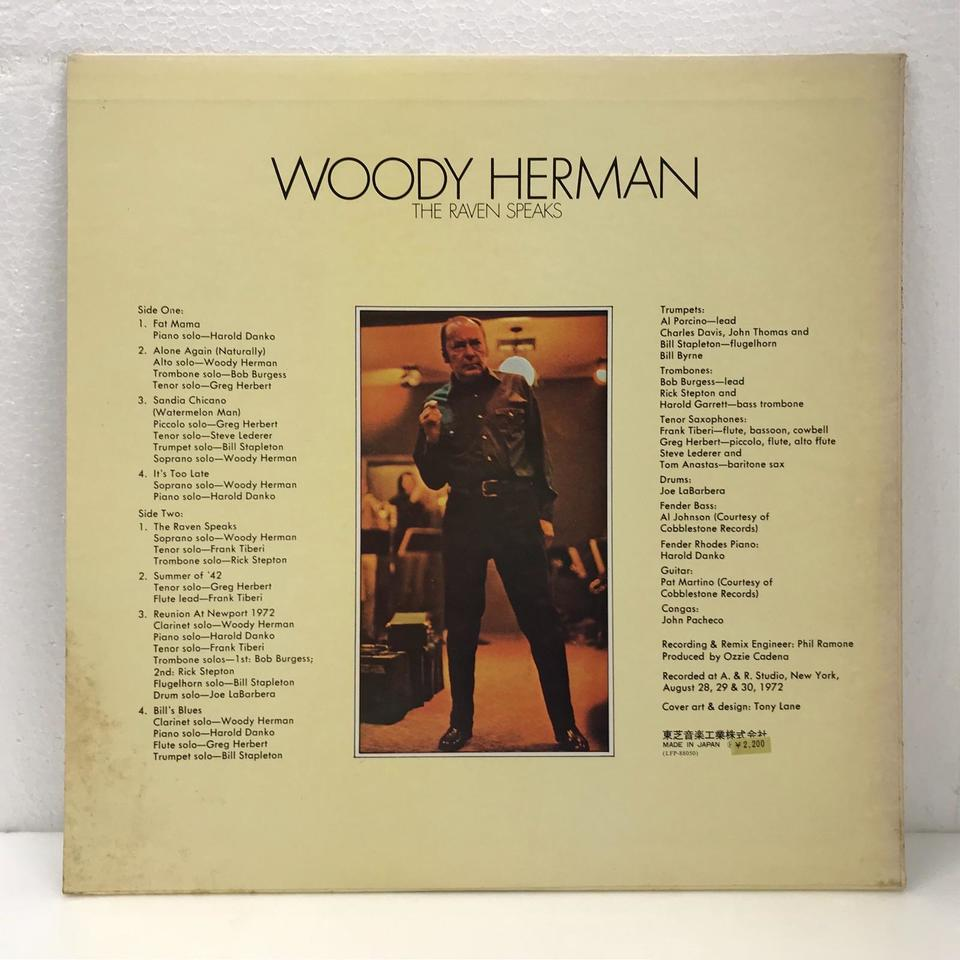 THE RAVEN SPEAKS/WOODY HERMAN WOODY HERMAN 画像