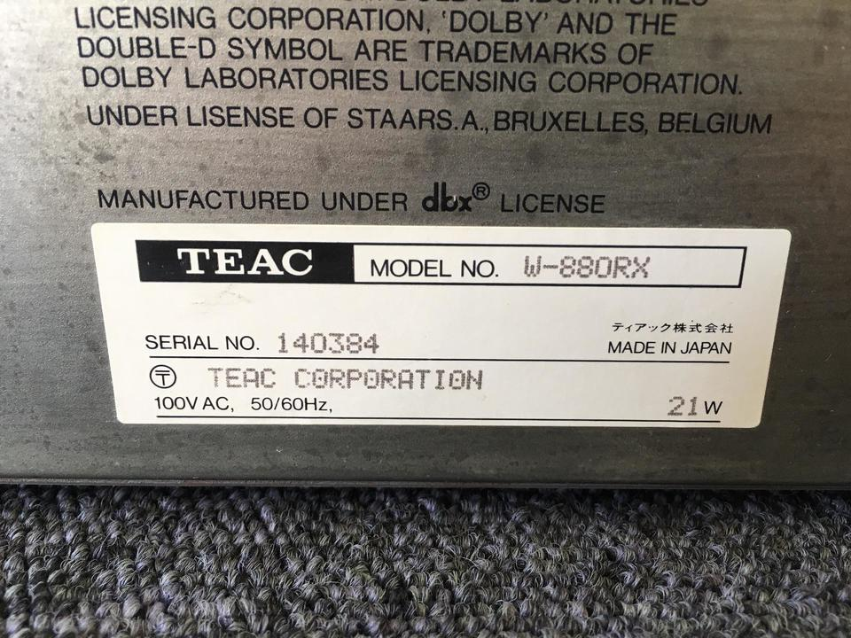 W-880RX TEAC 画像