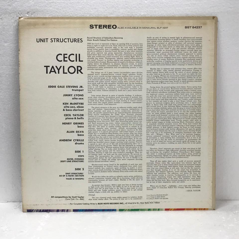 UNIT STRUCTURES/CECIL TAYLOR CECIL TAYLOR 画像