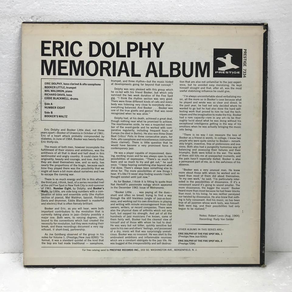 ERIC DOLPHY AT THE FIVE SPOT VOL.3 ERIC DOLPHY 画像