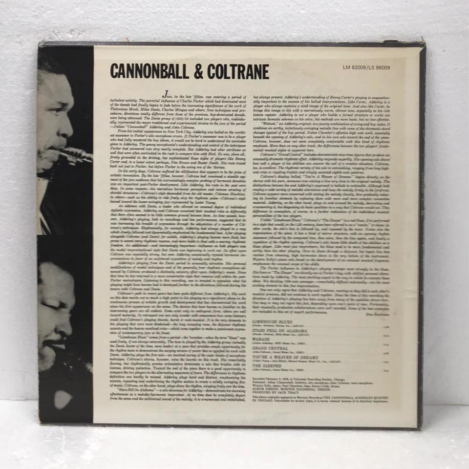 CANNONBALL & COLTRANE/CANNONBALL ADDERLEY CANNONBALL ADDERLEY 画像