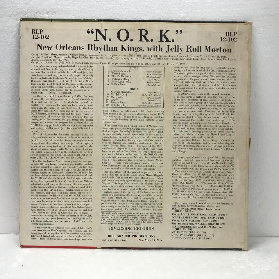 NEW ORLEANS RHYTHM KINGS WITH JELLY ROLL MORTON JELLY ROLL MORTON 画像