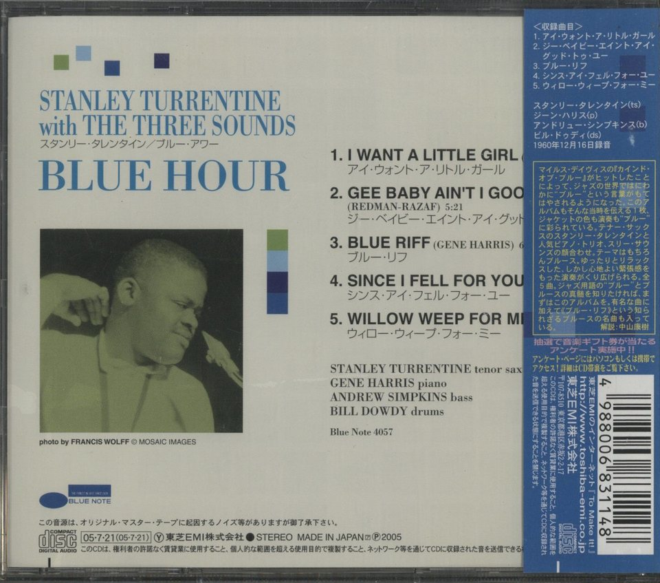 BLUE HOUR/STANLEY TURRENTINE STANLEY TURRENTINE 画像