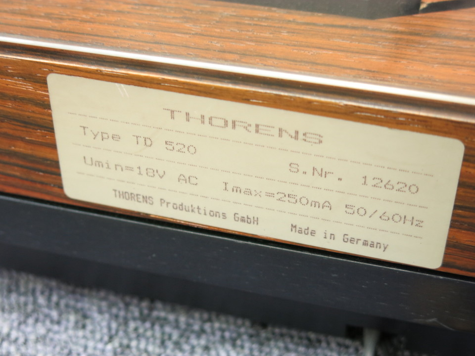 TD-520RW THORENS 画像