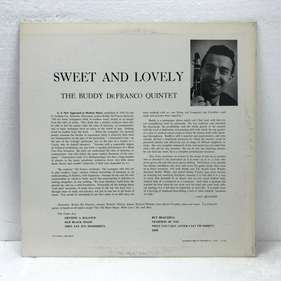 SWEET AND LOVELY/BUDDY DE FRANCO  BUDDY DE FRANCO  画像