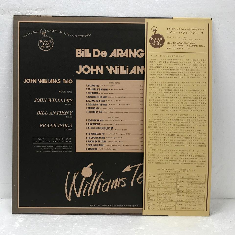 BILL DE ARANGO/JOHN WILLIAMS JOHN WILLIAMS 画像
