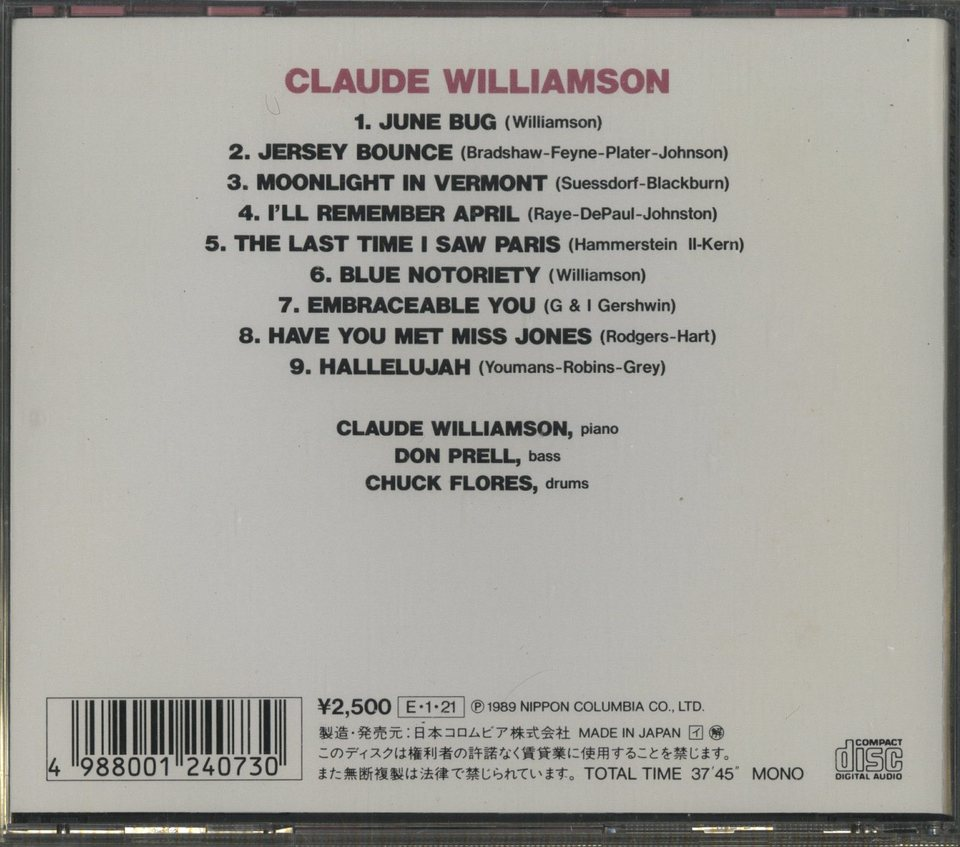 CLAUDE WILLIAMSON CLAUDE WILLIAMSON 画像