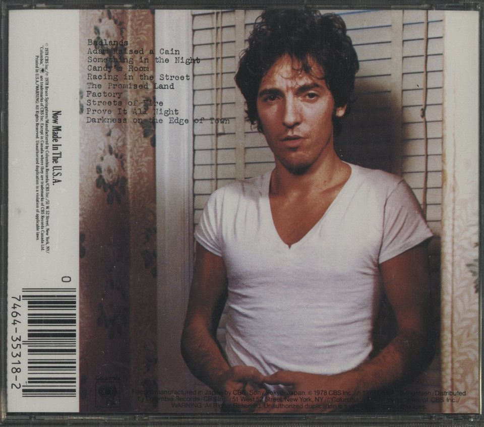 DARKNESS ON THE EDGE OF TOWN/BRUCE SPRINGSTEEN BRUCE SPRINGSTEEN 画像