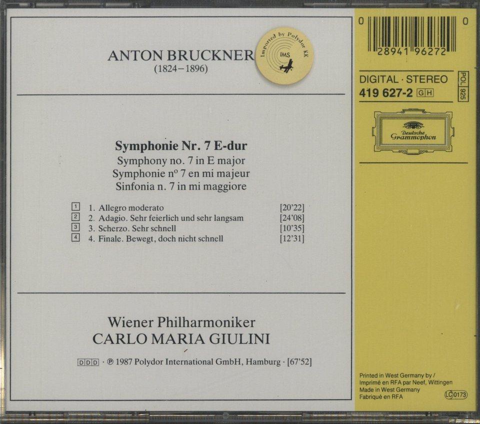 ブルックナー:交響曲第7番 ブルックナー 画像