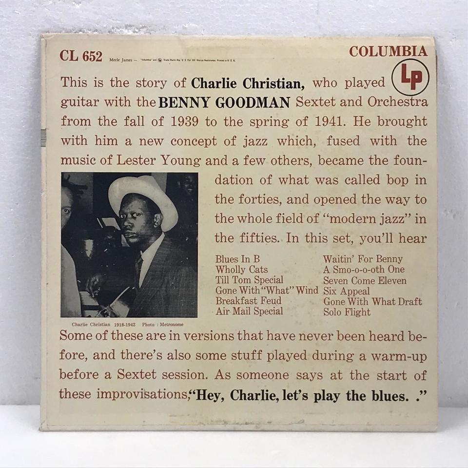CHARLIE CHRISTIAN WITH THE BENNY GOODMAN SEXTET AND ORCHESTRA CHARLIE CHRISTIAN 画像