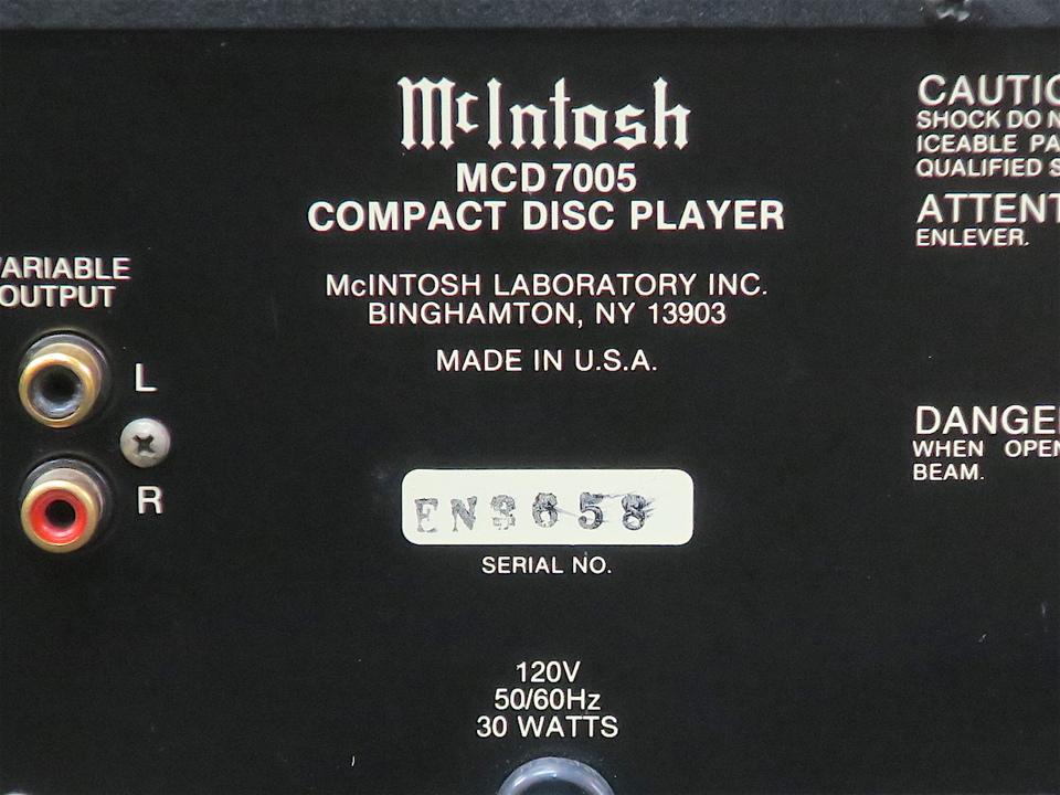MCD7005 McIntosh 画像