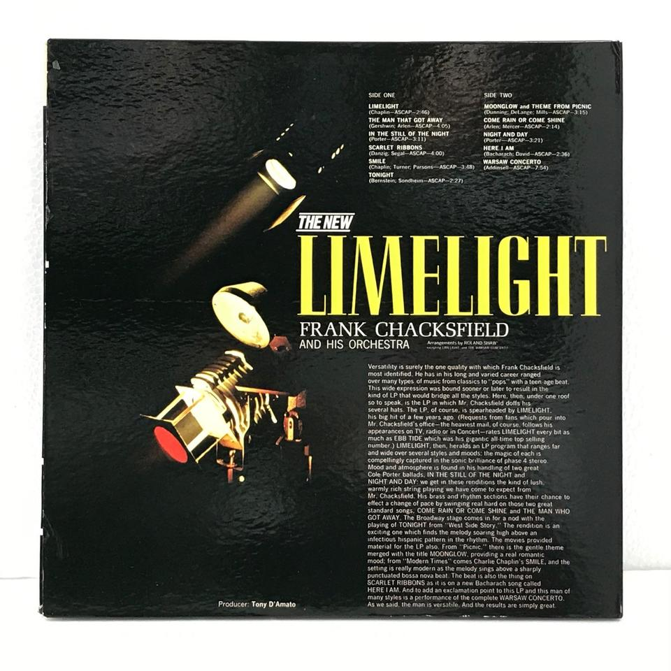 THE LIMELIGHT/FRANK CHACKSFIELD FRANK CHACKSFIELD 画像