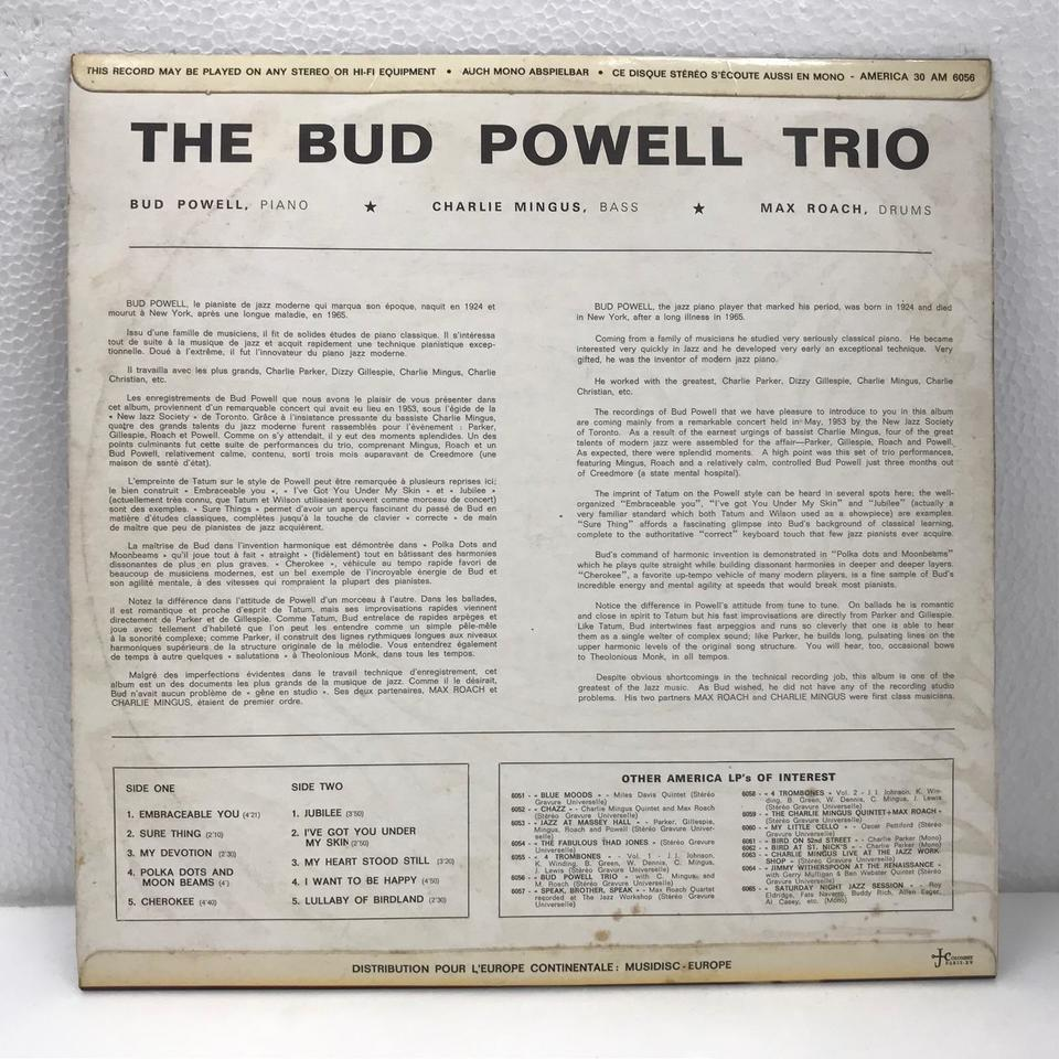 THE BUD POWELL TRIO BUD POWELL 画像