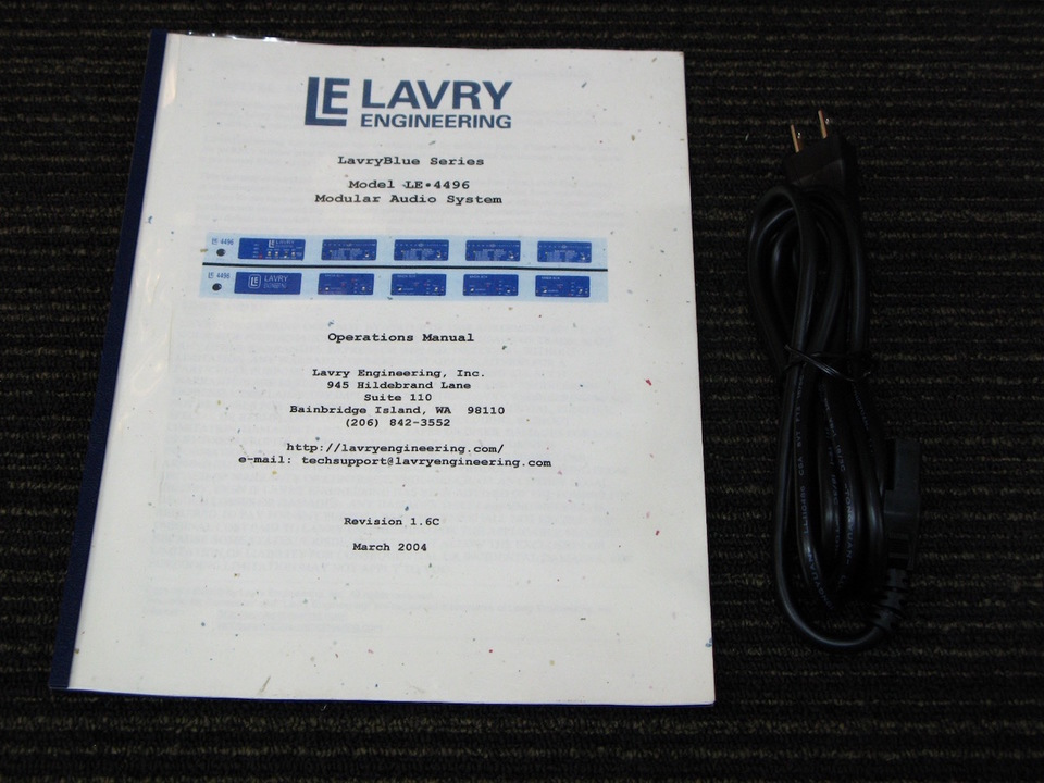 Lavry Blue LE4496 Lavry Engineering 画像