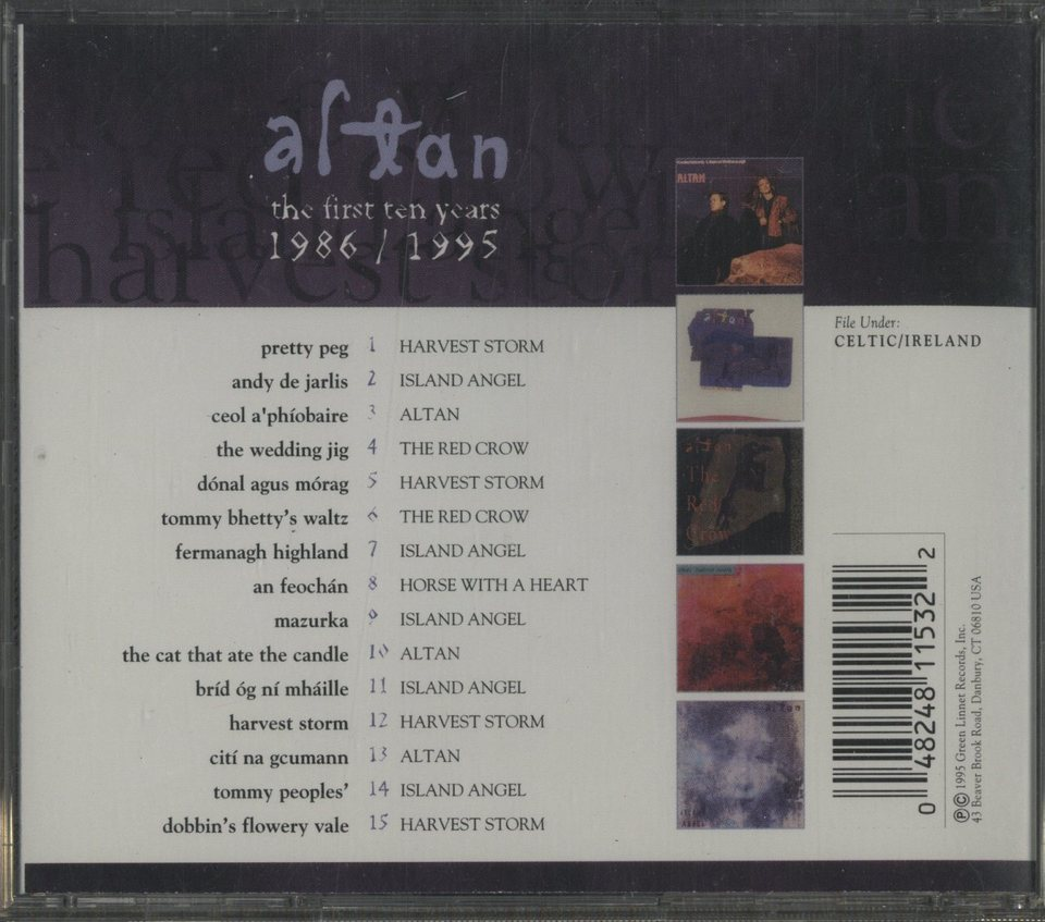 THE FIRST TEN YEARS 1986-1995/ALTAN ALTAN 画像