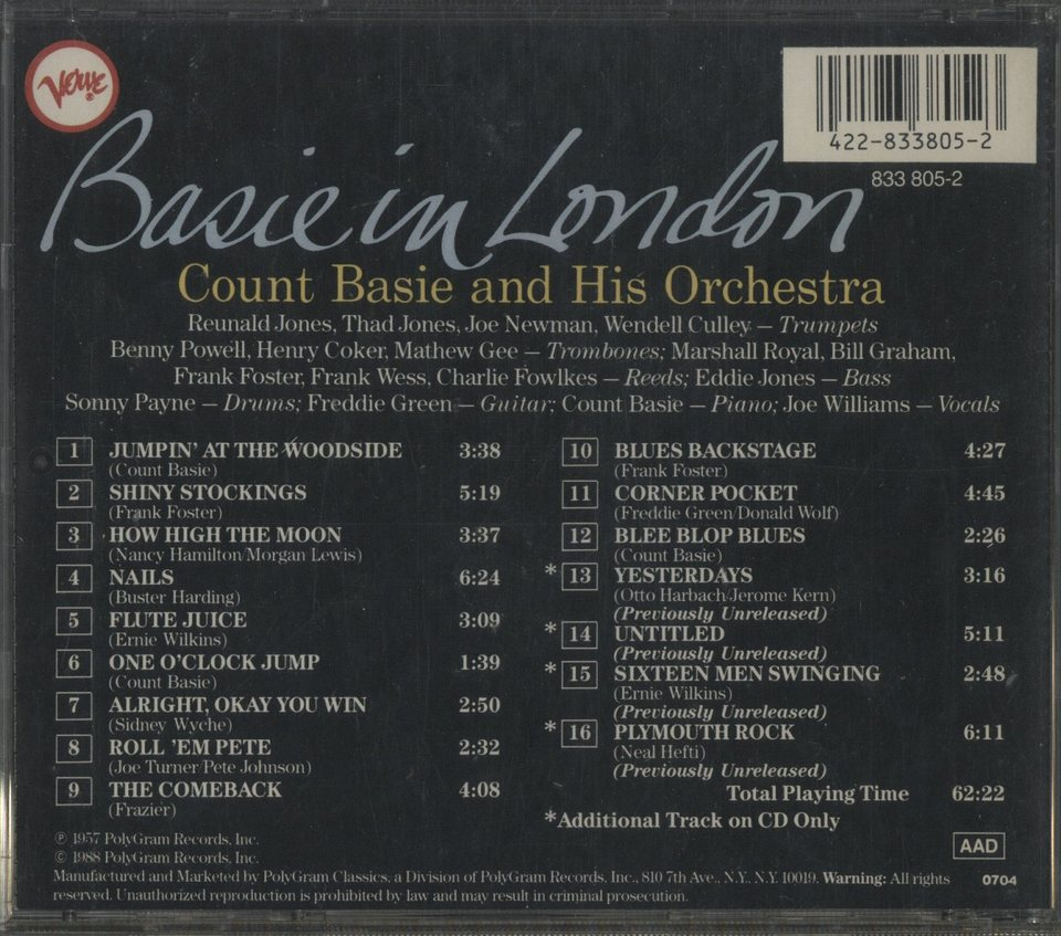 BASIE IN LONDON/COUNT BASIE COUNT BASIE 画像
