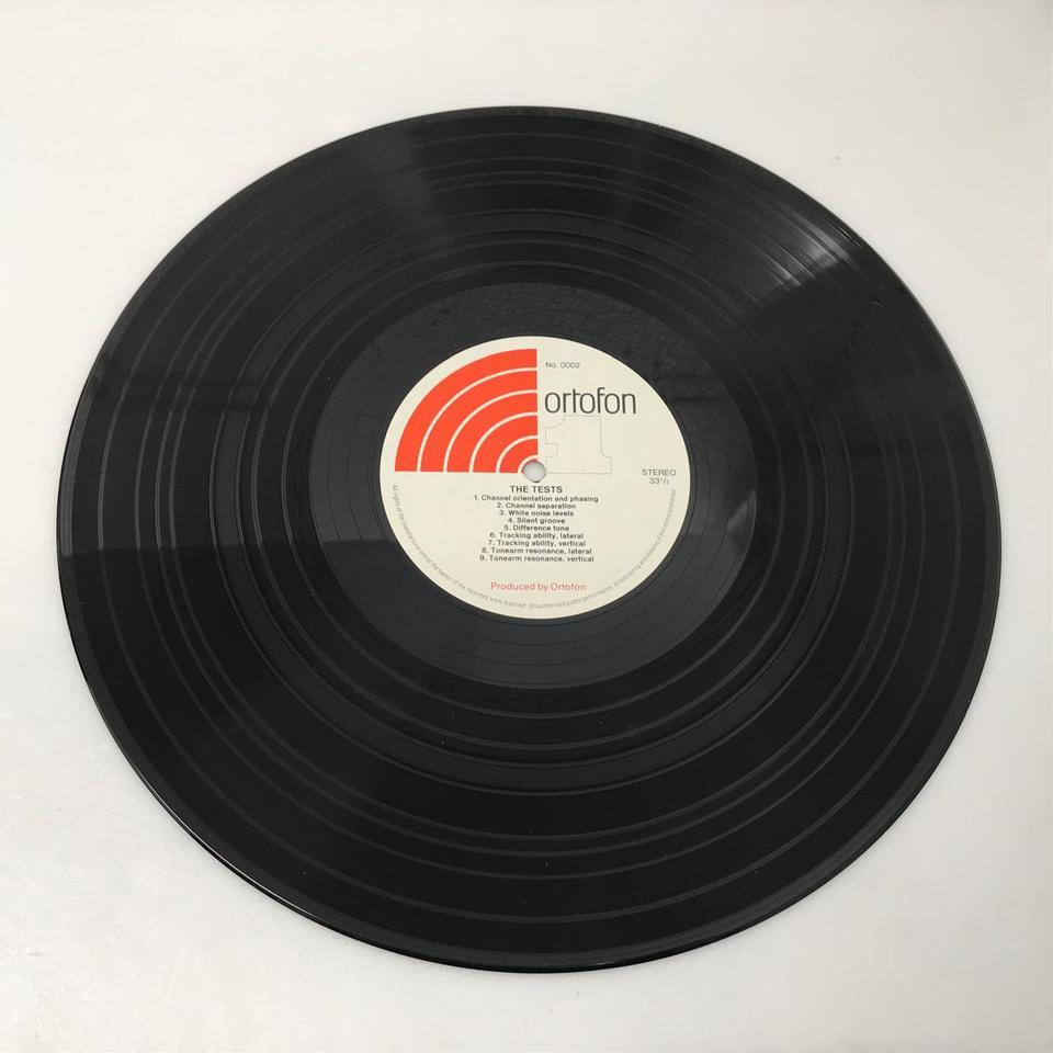 ORTOFON PICK UP TEST RECORD  画像