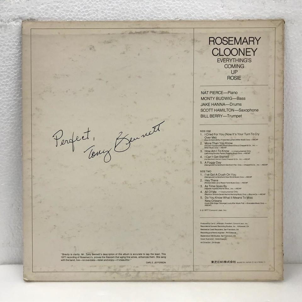 EVERYTHING'S COMING UP ROSE/ROSEMARY CLOONEY ROSEMARY CLOONEY 画像