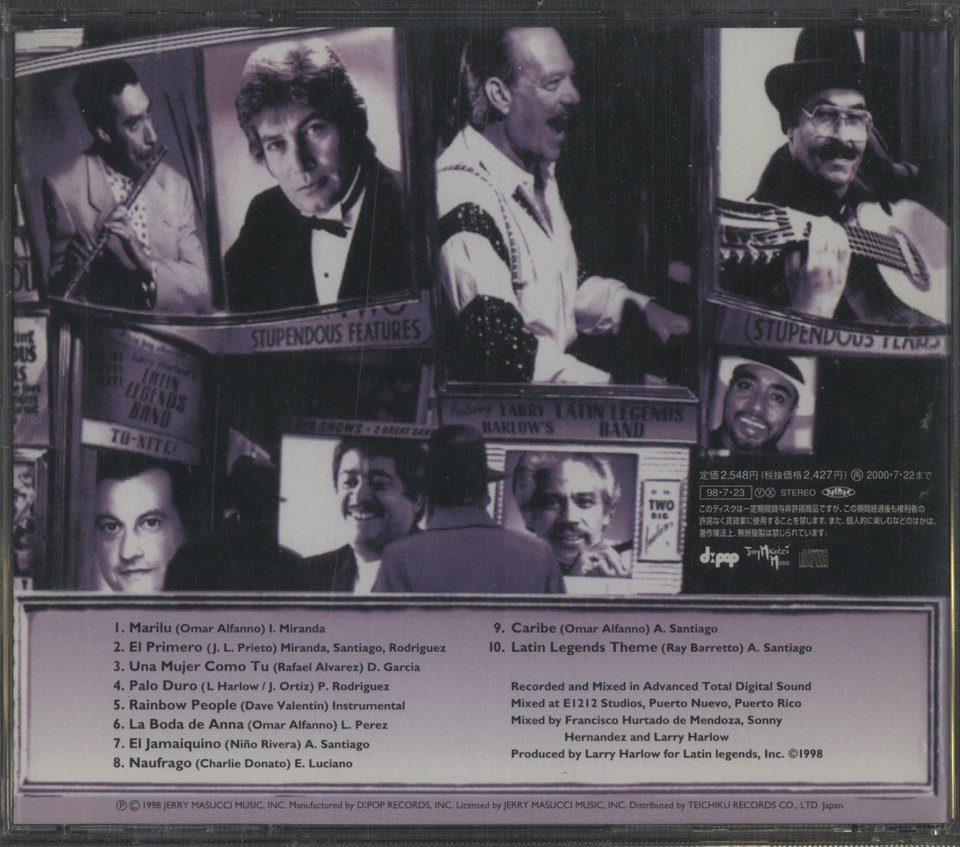 LARRY HARLOW'S LATIN LEGENDS BAND 1998 LARRY HARLOW 画像
