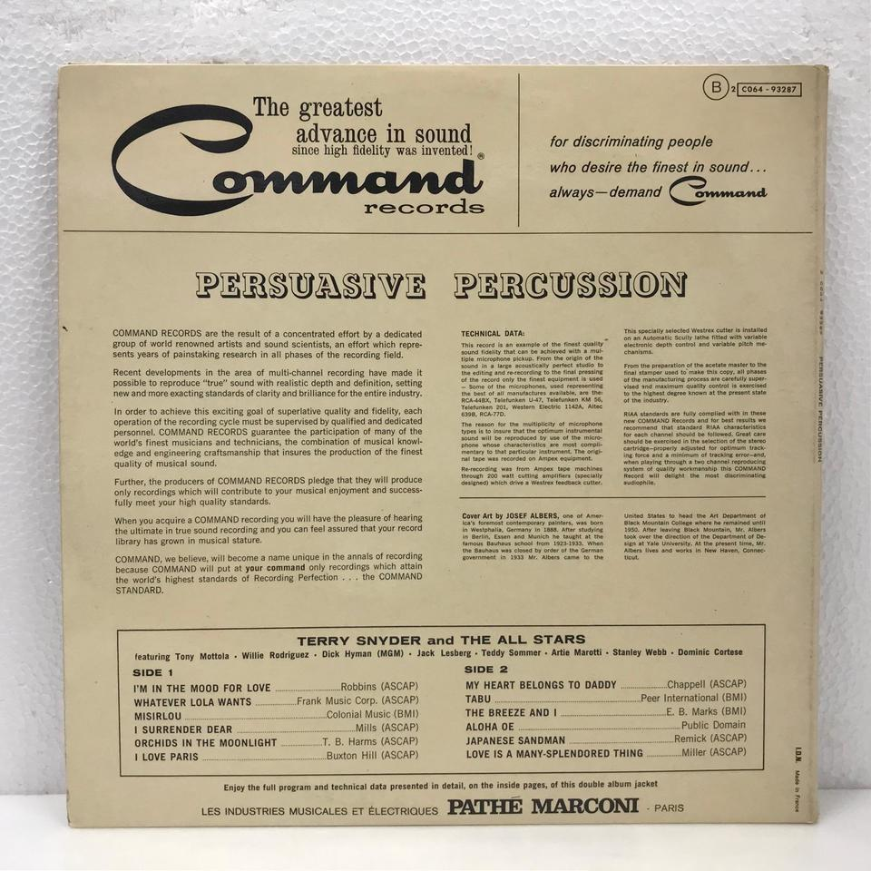PERSUASIVE PERCUSSION/TERRY SNYDER TERRY SNYDER 画像